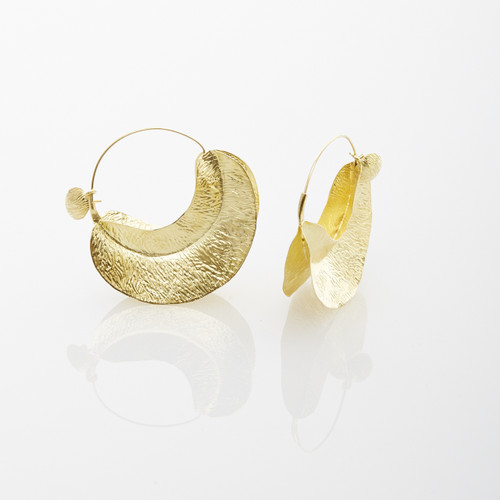 Gold Leaf Hoops