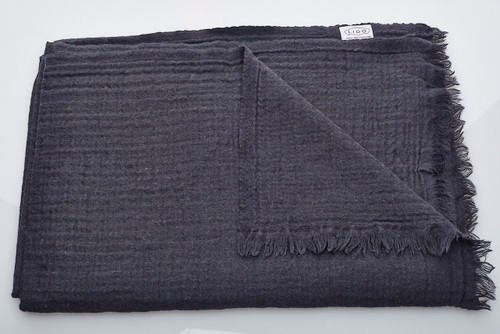 Soft Wool Blanket - Black