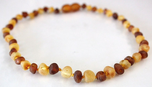 Raw Amber Teething Necklace - Bi Colour