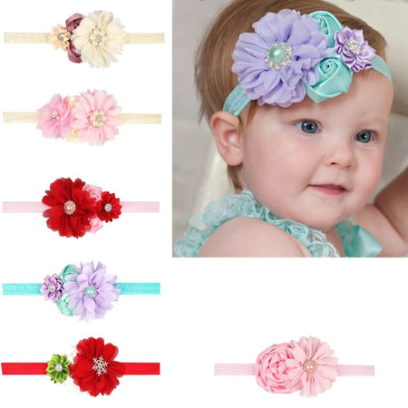 Baby 4 Flower Crown Headband