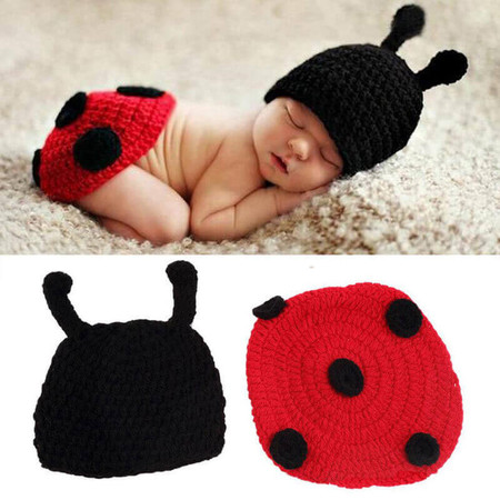 Lady Bird Crochet Baby Costume