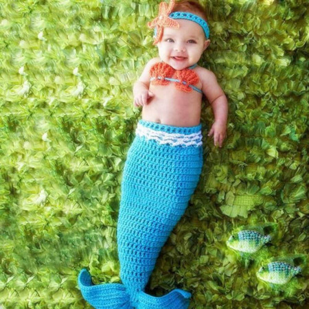 Mermaid - Crochet Newborn Photography Props
