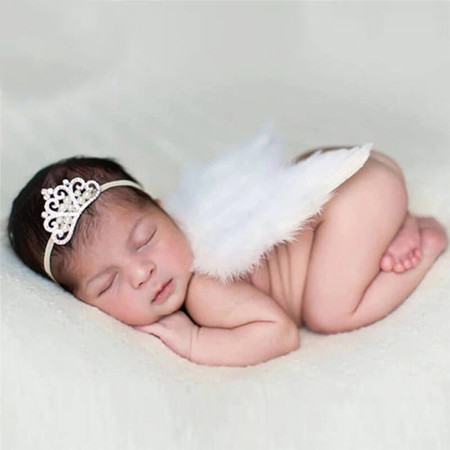 Newborn Angel Wings Photo Prop - White