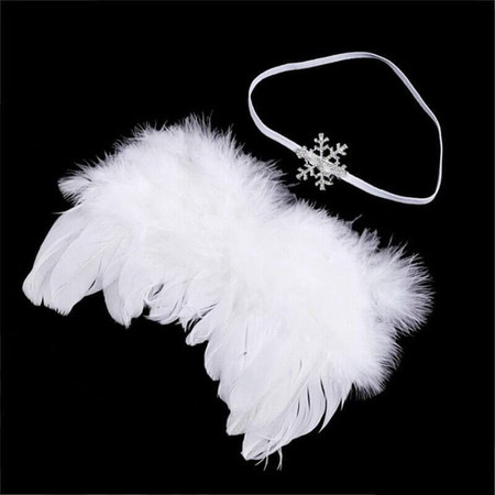 Newborn Angel Wings & Snowflake Headband