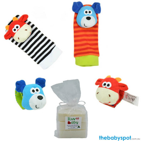 Soap and Rattle Socks with Wrist Band