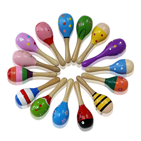 Wooden Baby Toy Rattle