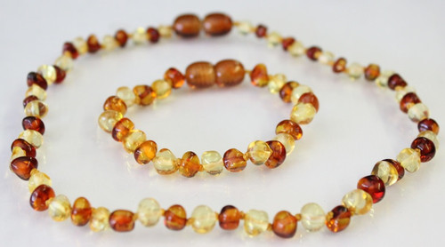 Amber Teething Sets For Baby - BI-COLOUR