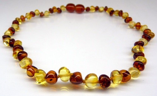 Amber Teething Necklace - Bi Colour