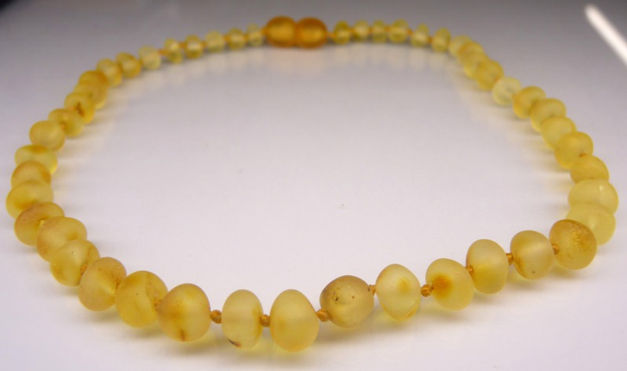 Raw Amber Teething Necklace - Honey