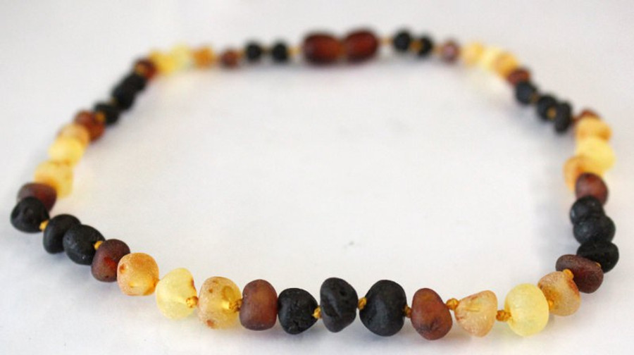 Raw Amber Teething Necklace - Rainbow