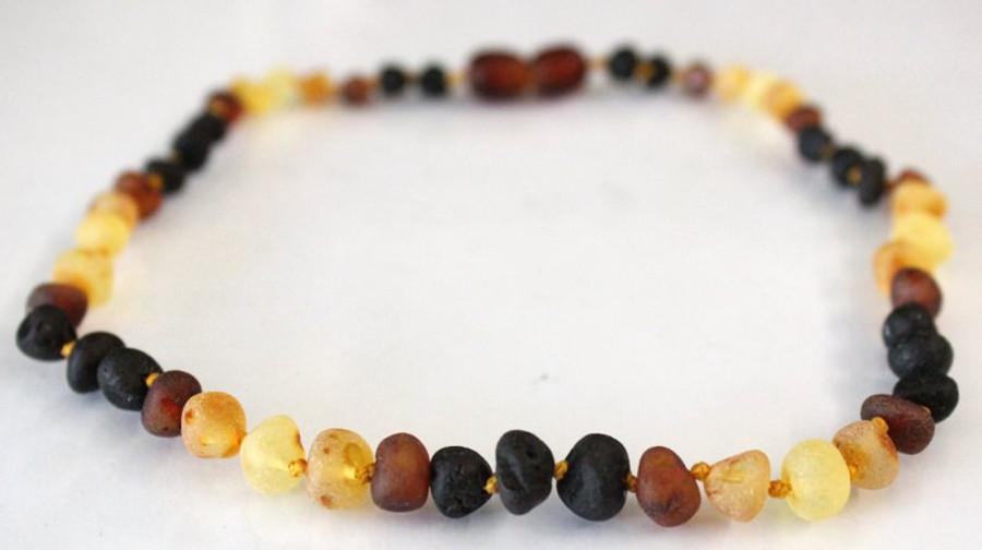Raw Amber Teething Necklace - Rainbow