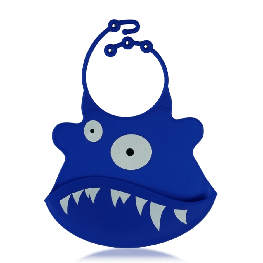 Silicone Baby Bibs with Crumb Catcher - Shark