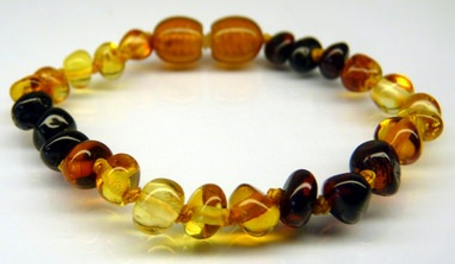 Amber Teething Bracelets - Rainbow