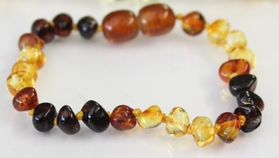 Amber Teething Bracelets - Dew Drop