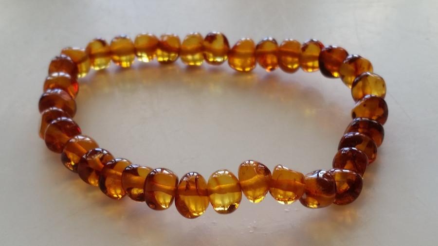Adult Amber Bracelet - Cognac