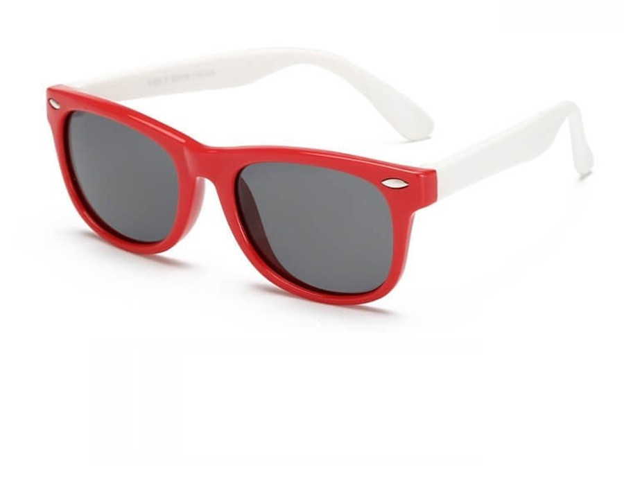 Kids Sunglasses - Red/White