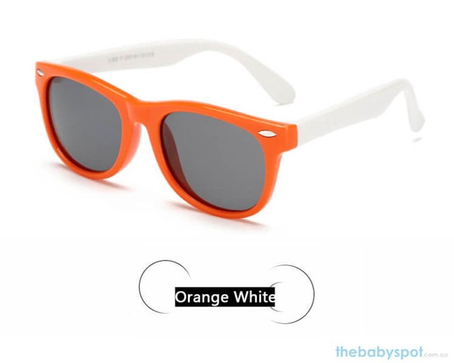 Kids Sunglasses - Orange/White