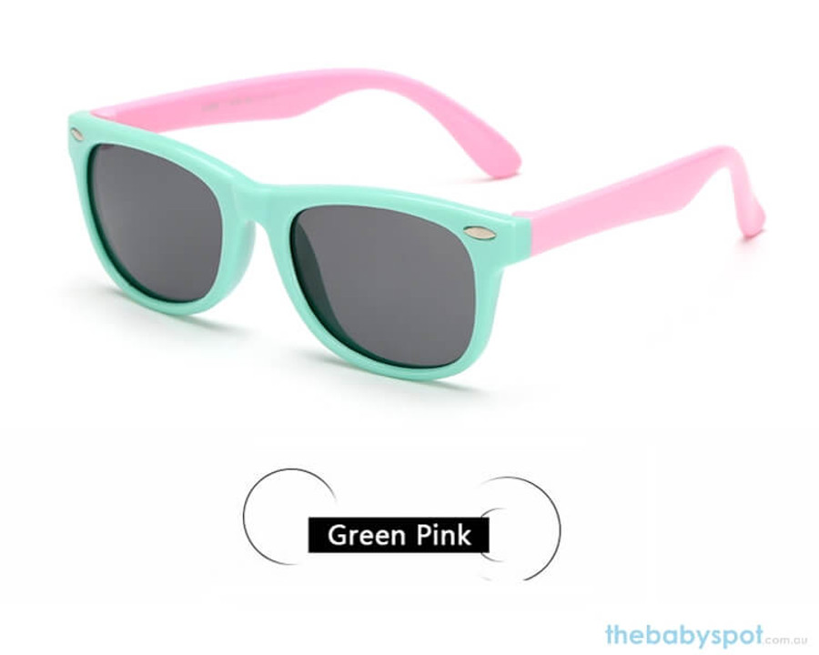 Kids Sunglasses - Green/Pink