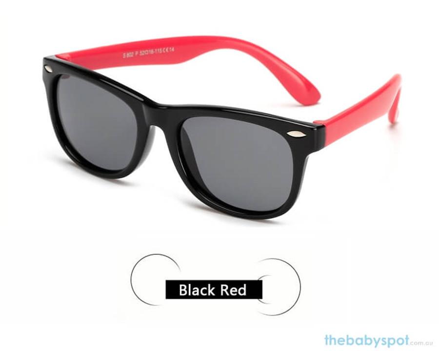 Kids Sunglasses - Black/Red