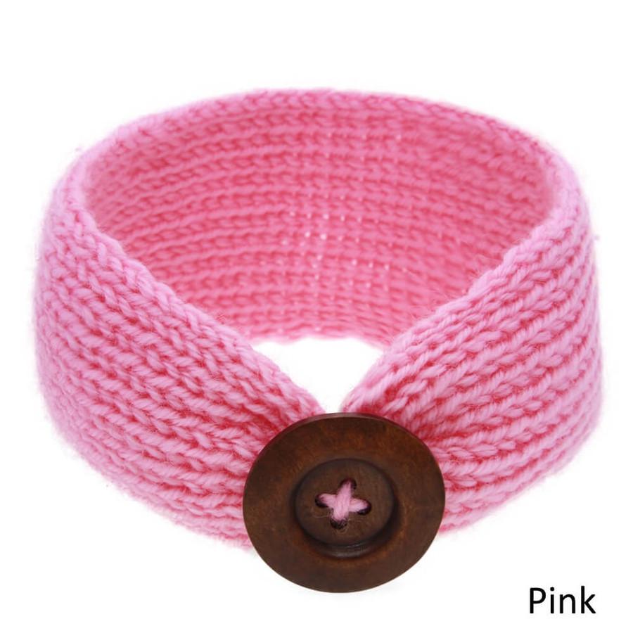 Baby Knitted Headband Head Wrap - Pink