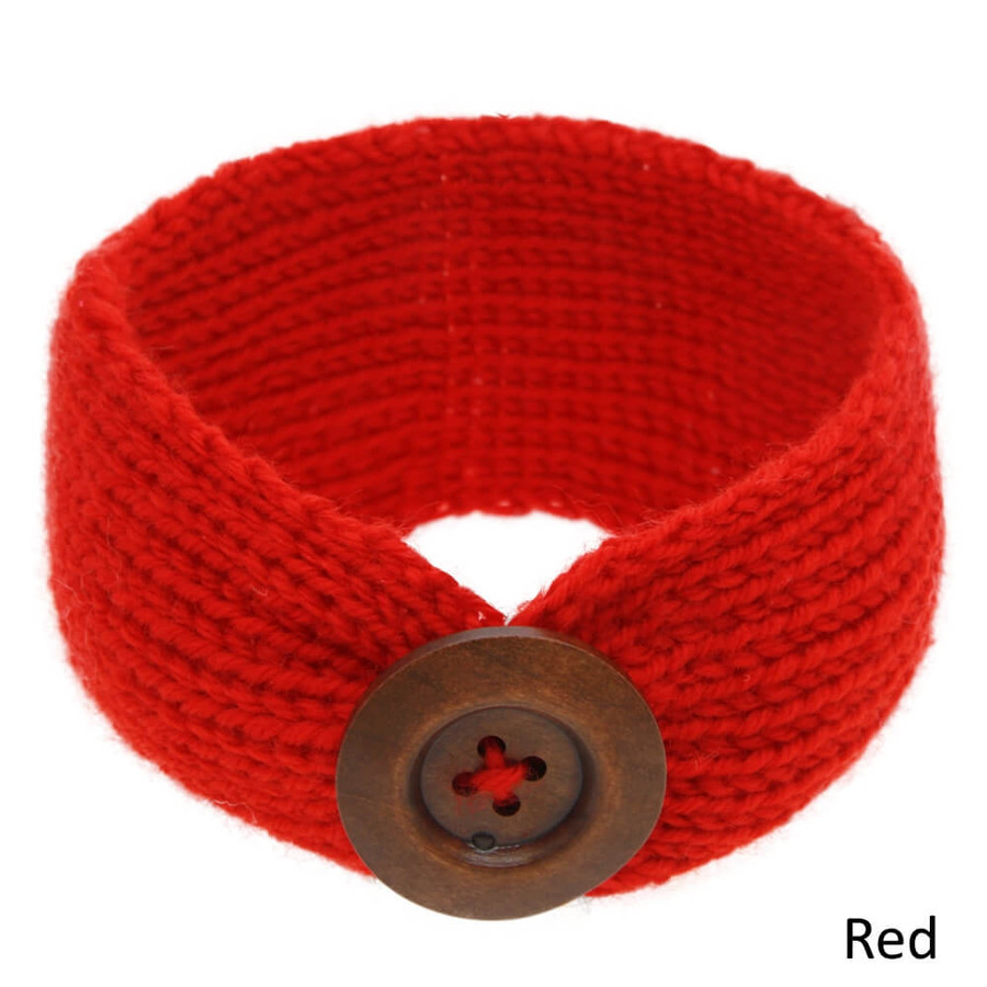 Baby Knitted Headband Head Wrap - Red