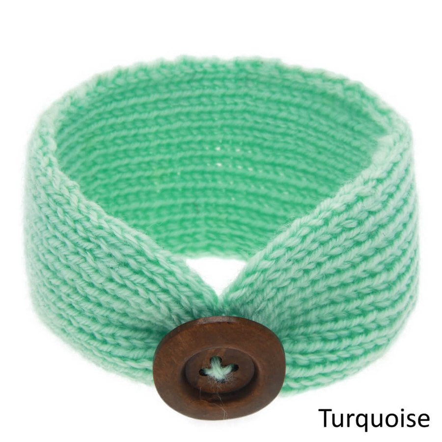 Baby Knitted Headband Head Wrap - Turquoise