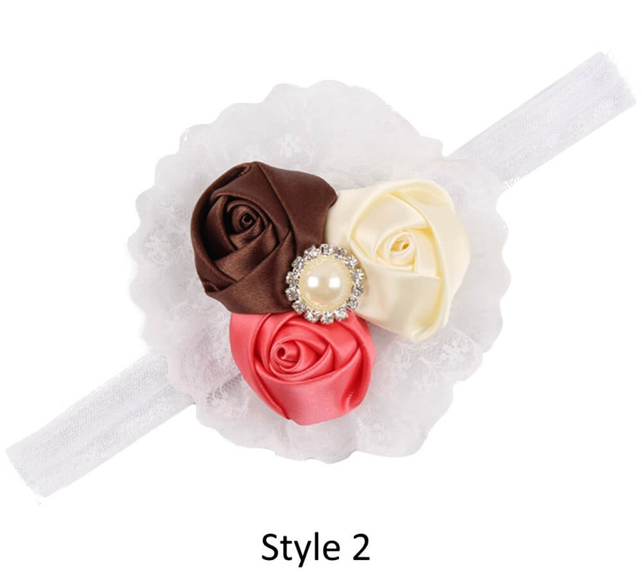 Baby Headband with 3 Rose - Style 2
