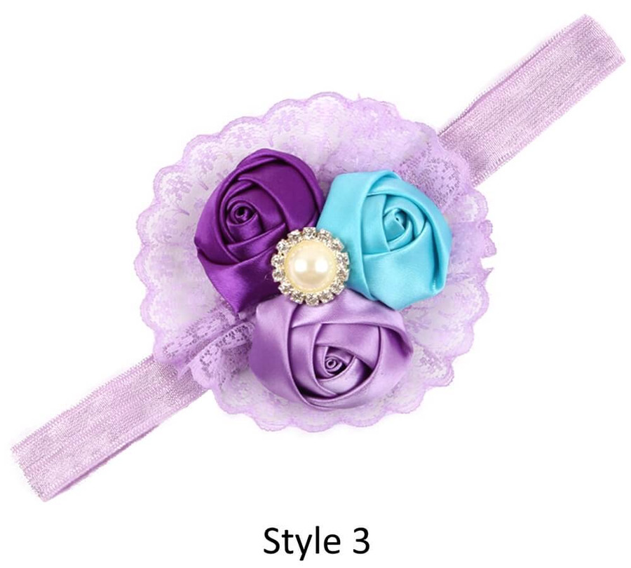 Baby Headband with 3 Rose - Style 3