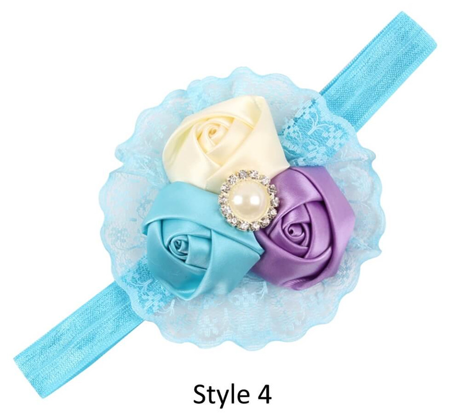 Baby Headband with 3 Rose - Style 4