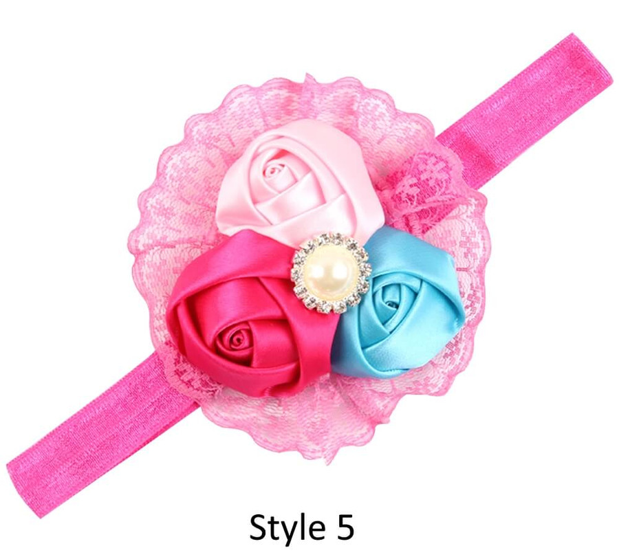 Baby Headband with 3 Rose - Style 5