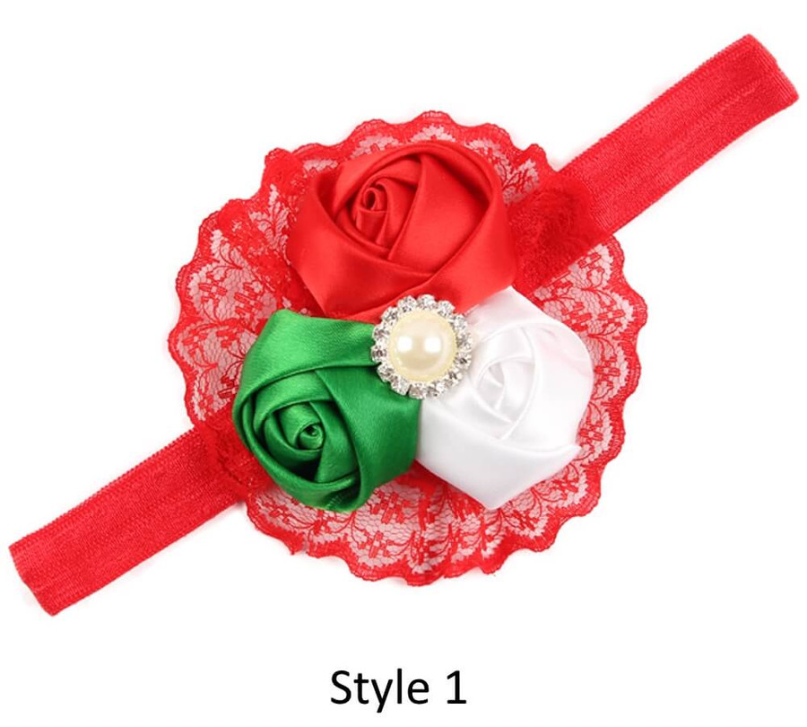 Baby Headband with 3 Rose - Style 1