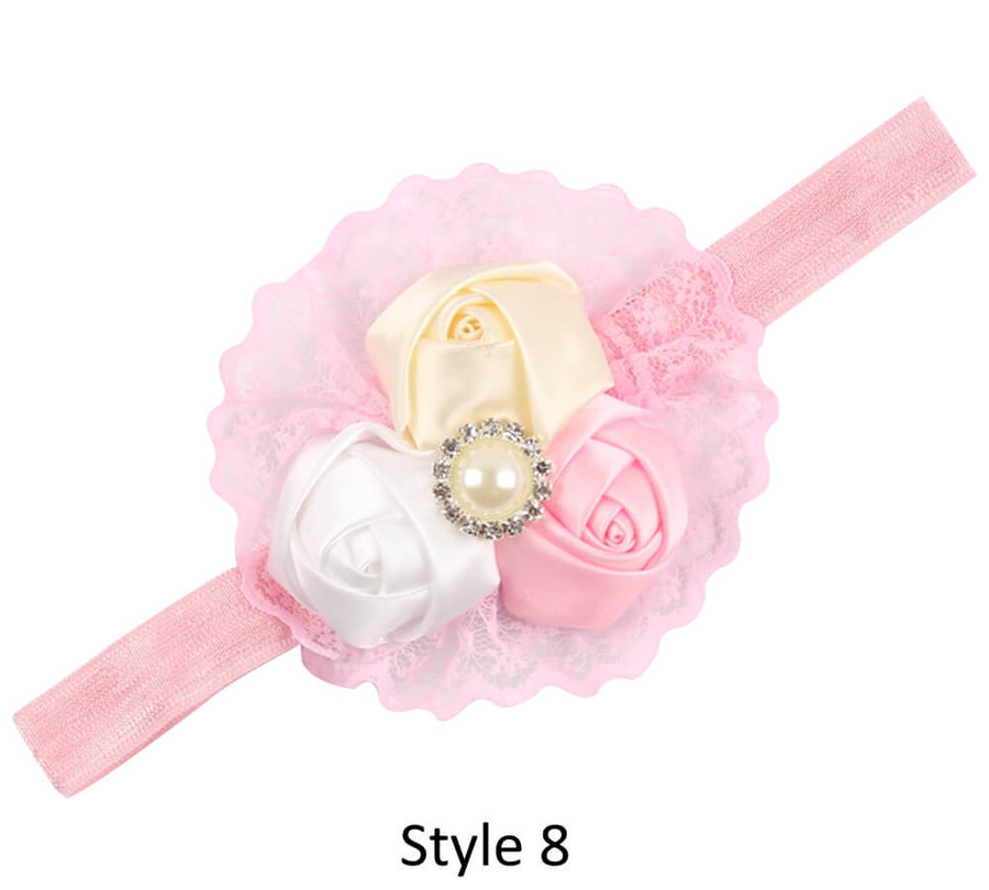 Baby Headband with 3 Rose - Style 8