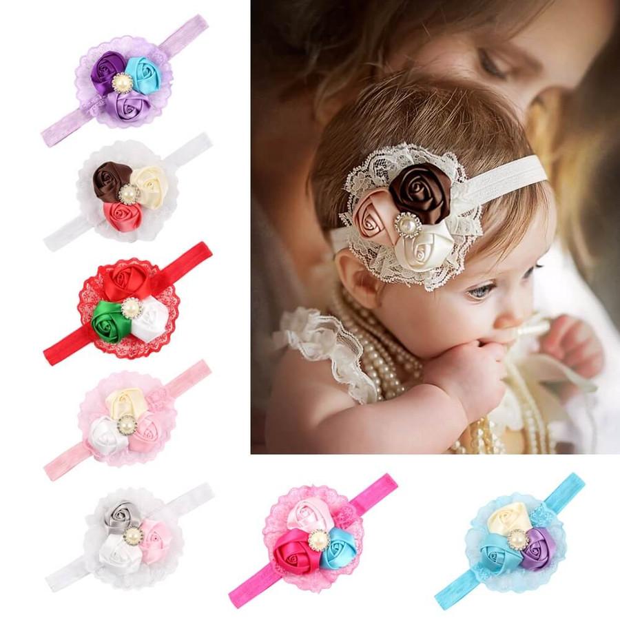 Baby 3 Rose Headband