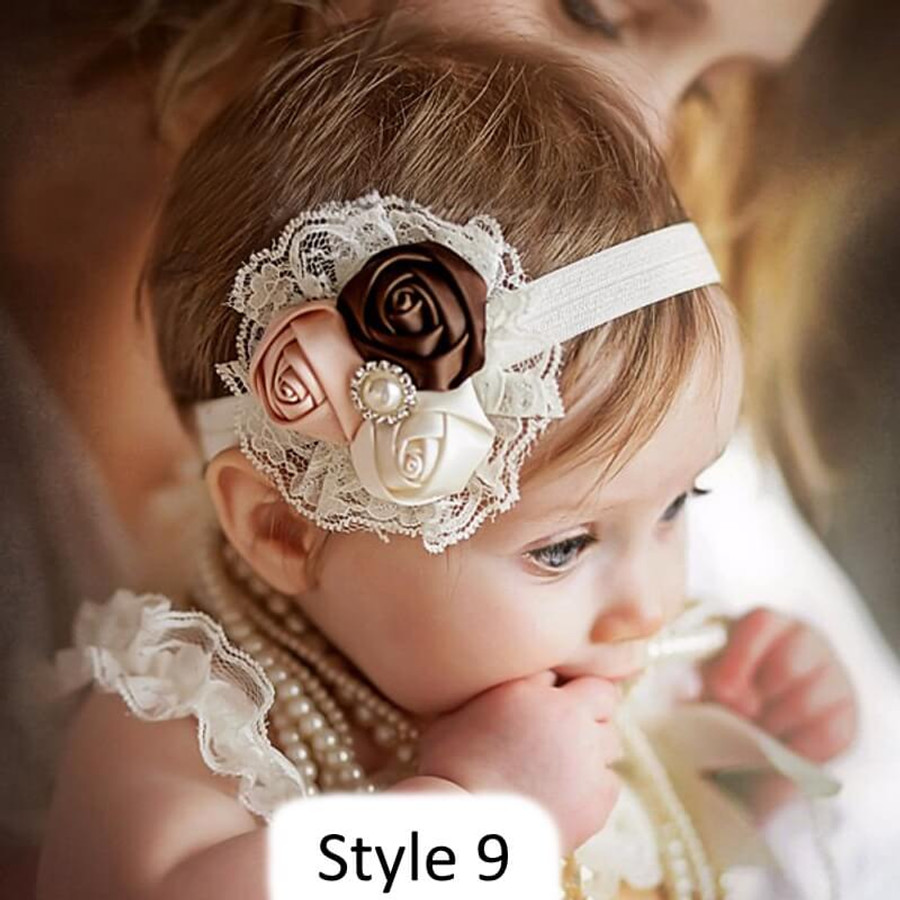 Baby Headband with 3 Rose - Style 9