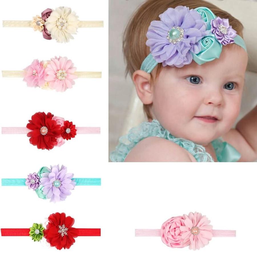 Baby 4 Flower Crown Headband
