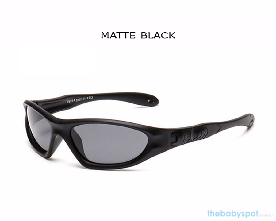 Kids Bendable Outdoor Sport Sunglasses  - Matte Black
