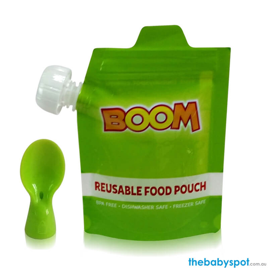 BOOM Reusable Food Pouch with Bonus Spoon