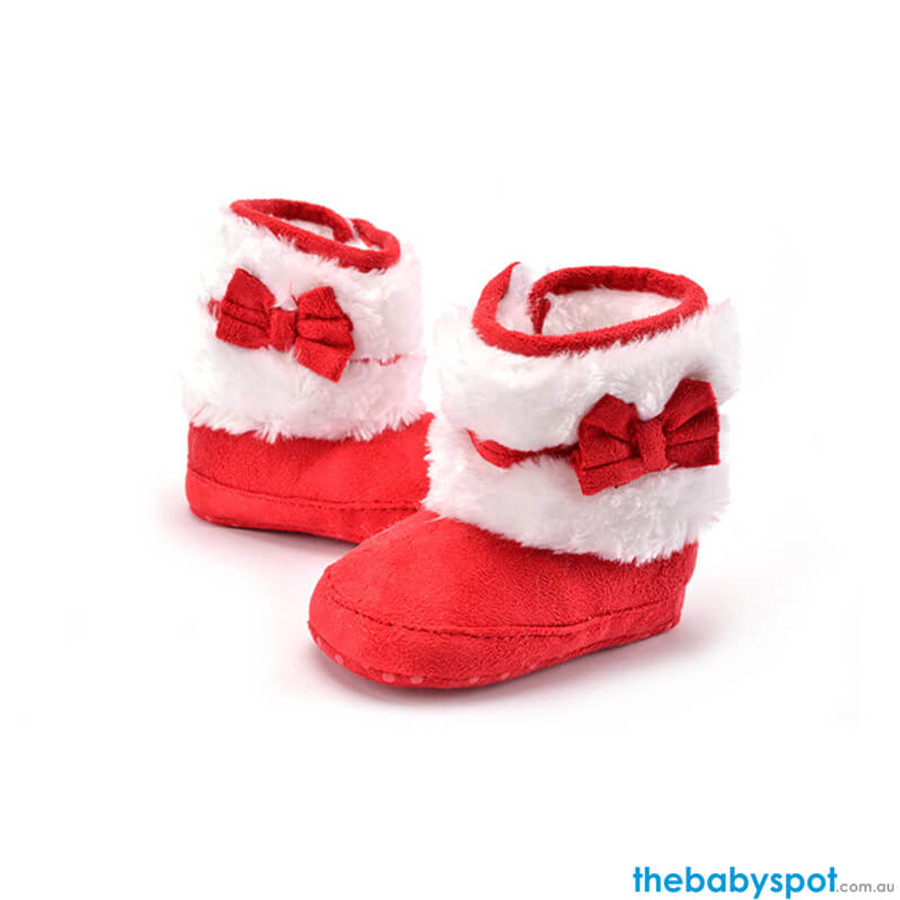 Baby Kint Boots - Red