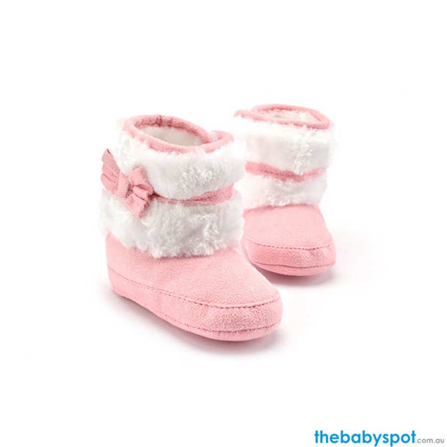 Baby Kint Boots - Pink