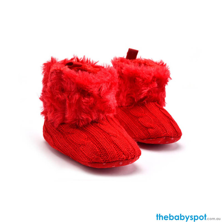 Baby Warm Boots - Red