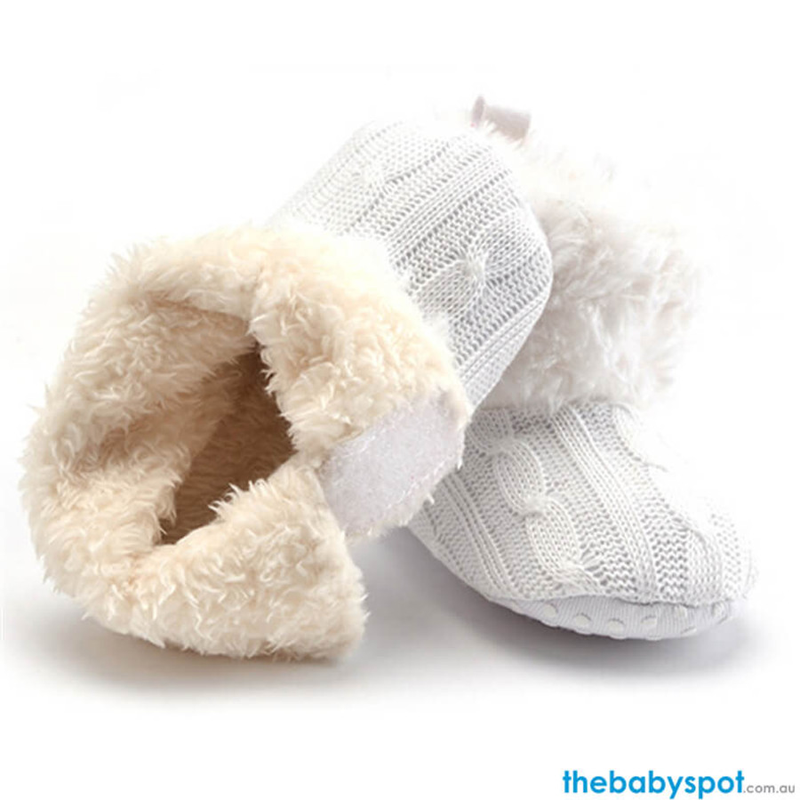 Baby Warm Boots - White