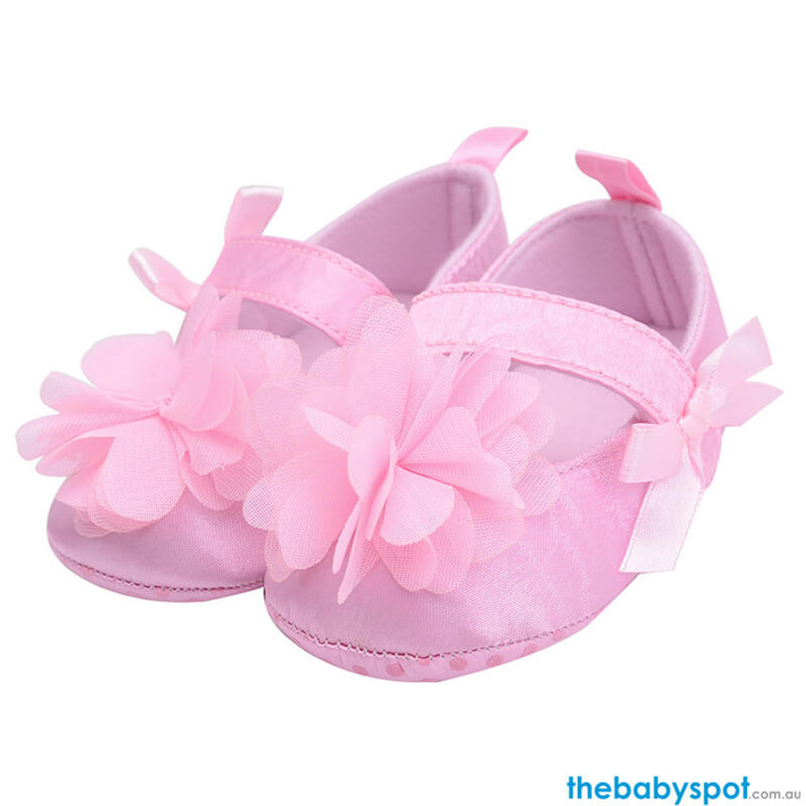 Flower Baby Shoes - Pink