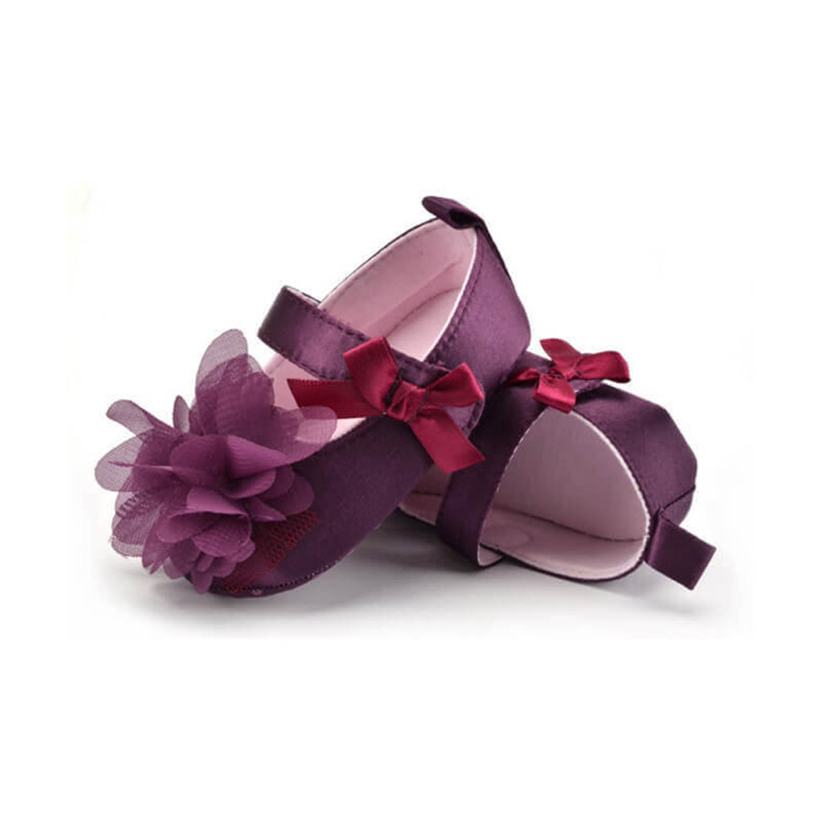 Baby Flower Shoes - Purple