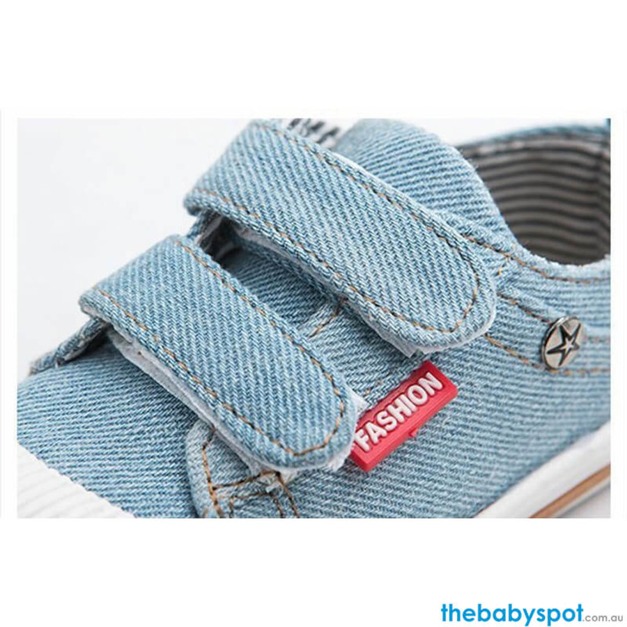 Canvas Baby Shoes - Sky Blue