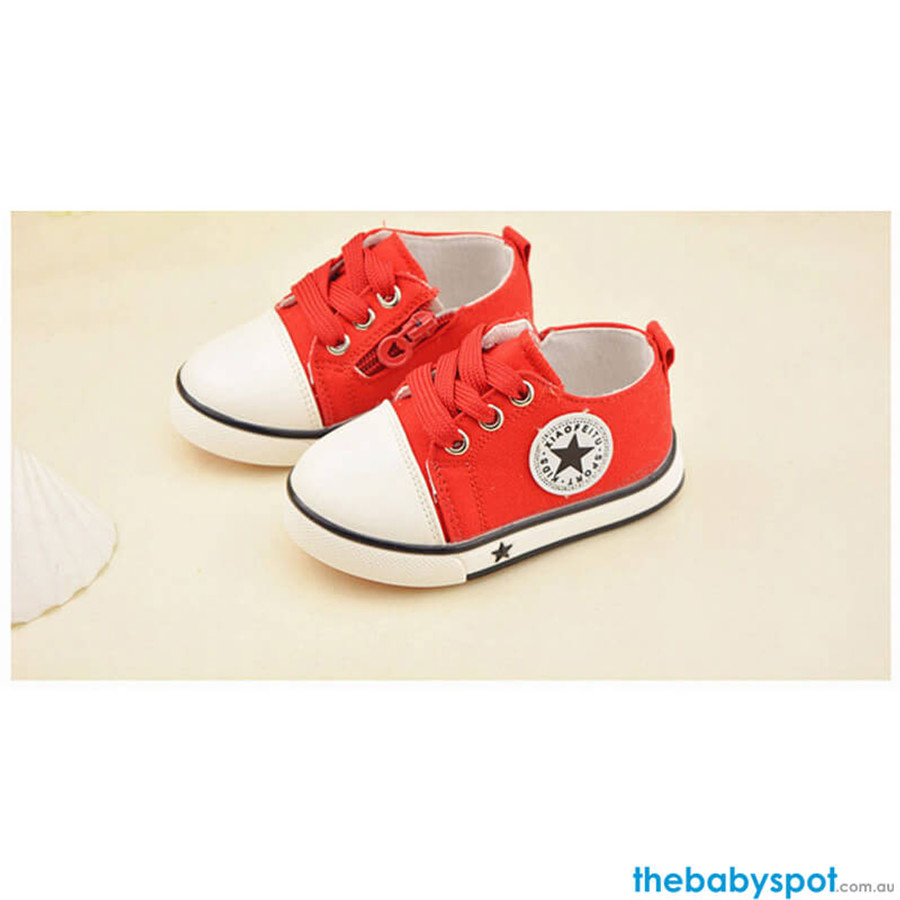 Baby Canvas Sports Shoes - Red