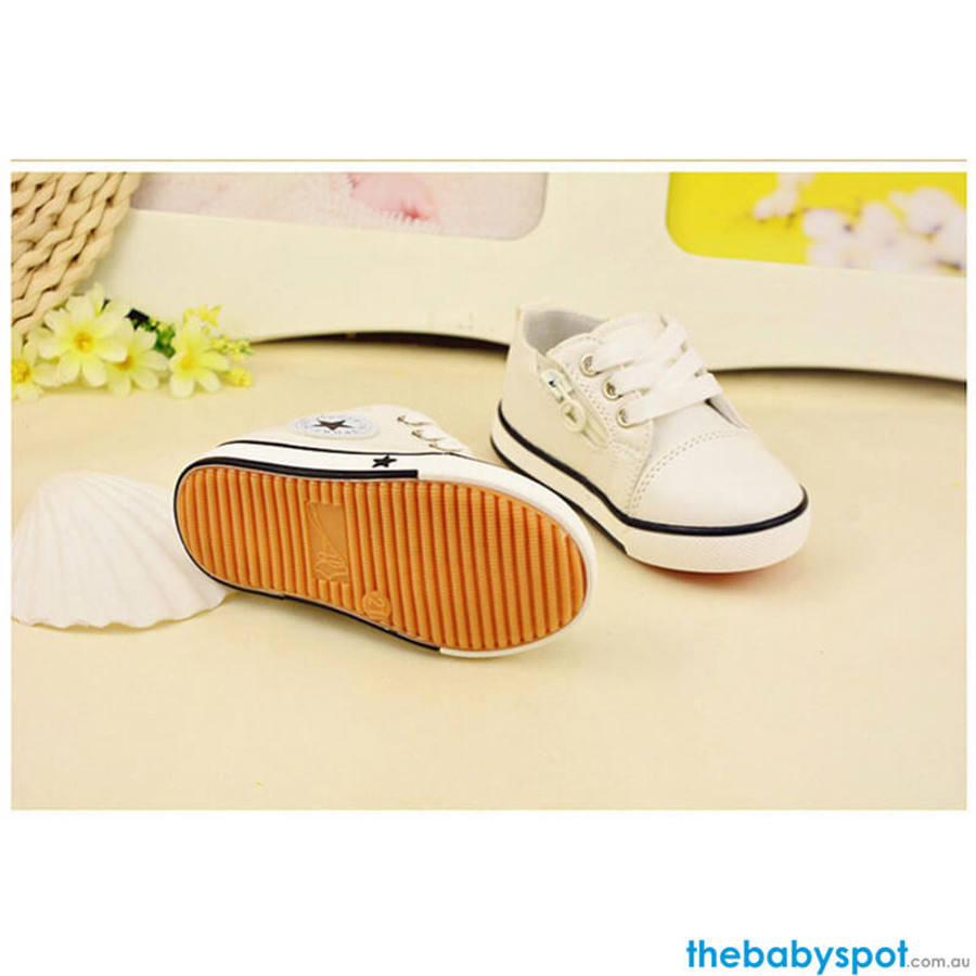 Baby Canvas Sports Shoes - Beige