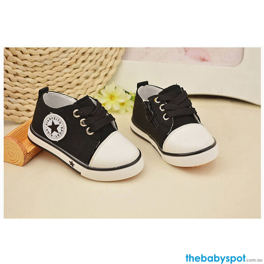 Baby Canvas Sports Shoes - Black