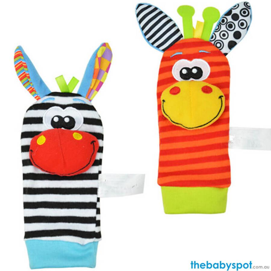 Baby Rattle Socks - Giraffe/Zebra