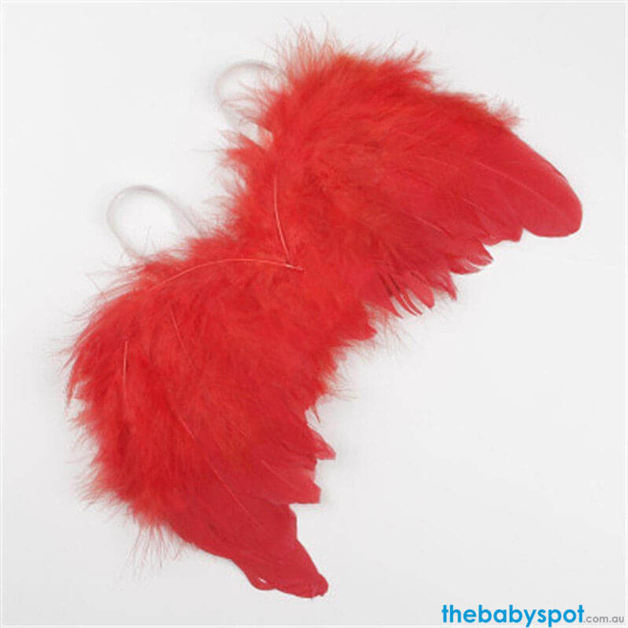 Newborn Angel Wings - Red