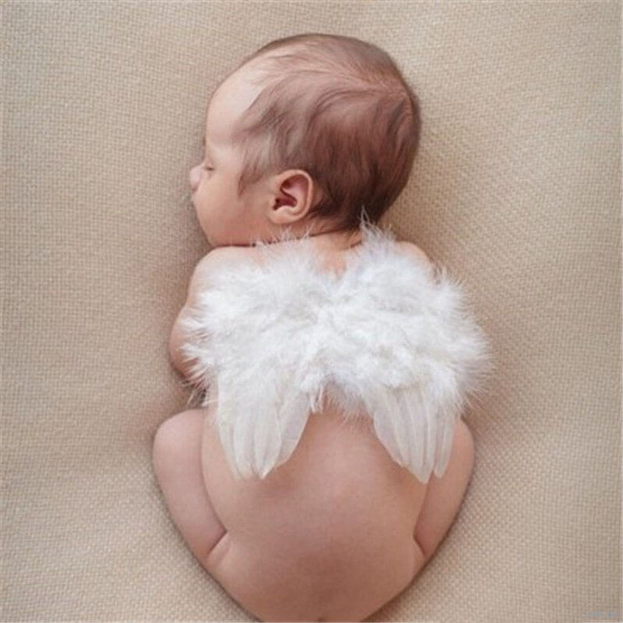 Newborn Angel Wings - White